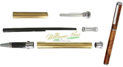 Chrome Conservative Rollerball Pen Kits - Williams Pens & Turning Supplies.