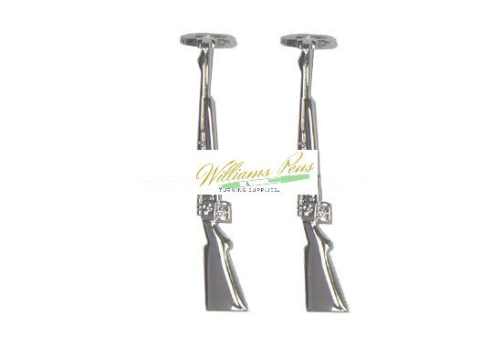 Chrome Rifle Clips for Fancy & Slimline Pen etc