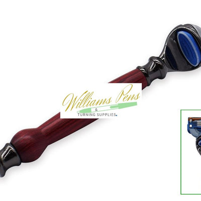 Gun Metal Fusion Razor Shaver Handle Kits - Williams Pens & Turning Supplies.