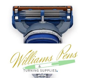 Razor blades for razor handle kit 4 pack (Fusion style) - Williams Pens & Turning Supplies.