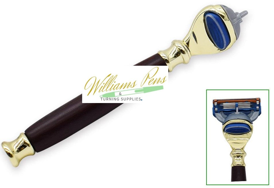Gold Fusion Razor Shaver Handle Kits - Williams Pens & Turning Supplies.