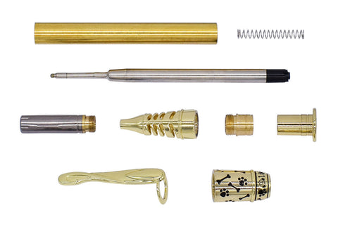 Gold Doggie Ball Pen Kits