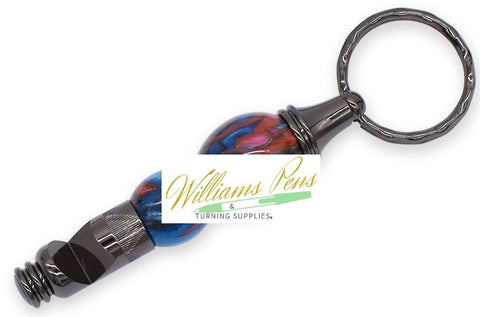 Gun Metal Bottle Opener Key Chain Kits