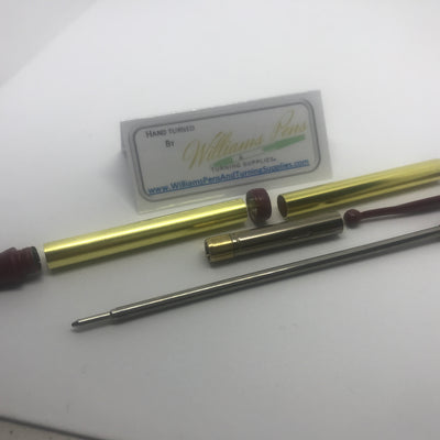 Fancy Pen Kit Red Enamel - Williams Pens & Turning Supplies.