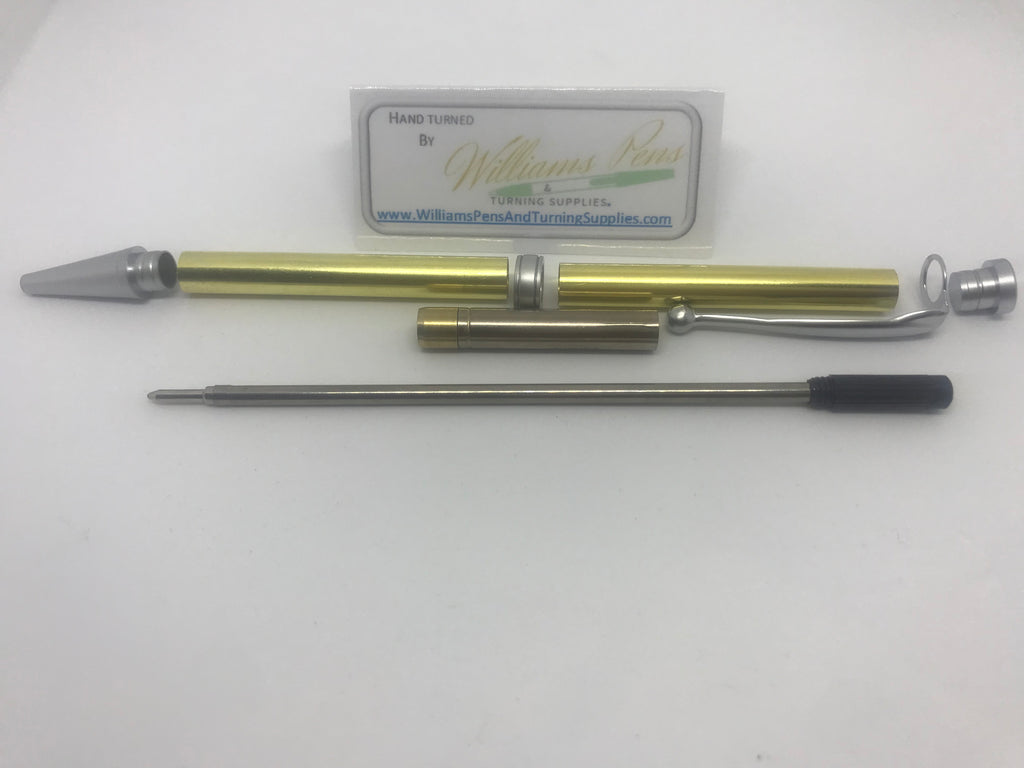 Fancy Pen Kit Matt Chrome - Williams Pens & Turning Supplies.