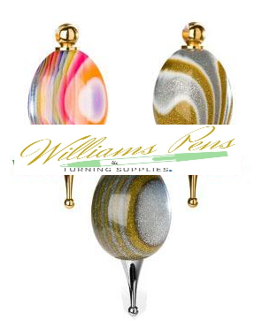 Gold Christmas Tree Decoration Kits - Williams Pens & Turning Supplies.