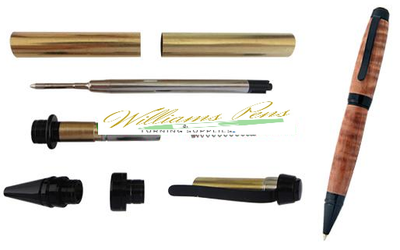 Black Chrome Cigar Pen Kits - Williams Pens & Turning Supplies.