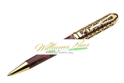 Gold European filigree pen kits - Williams Pens & Turning Supplies.
