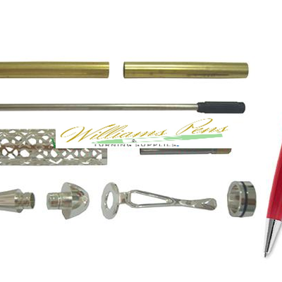 Silver European filigree pen kits - Williams Pens & Turning Supplies.