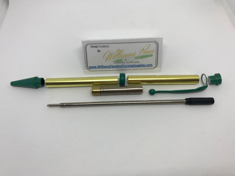 Fancy Pen Kit Green Enamel - Williams Pens & Turning Supplies.