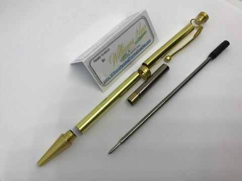 Fancy Pen Kit Satin Gold - Williams Pens & Turning Supplies.