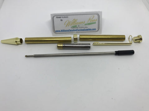 Slimline Pen Kit Gold - Williams Pens & Turning Supplies.