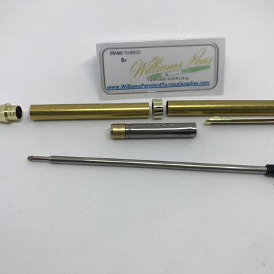 Slimline Pen Kit Gold with Black Stripe - Williams Pens & Turning Supplies.