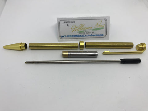 Slimline Pen Kit Satin Gold - Williams Pens & Turning Supplies.