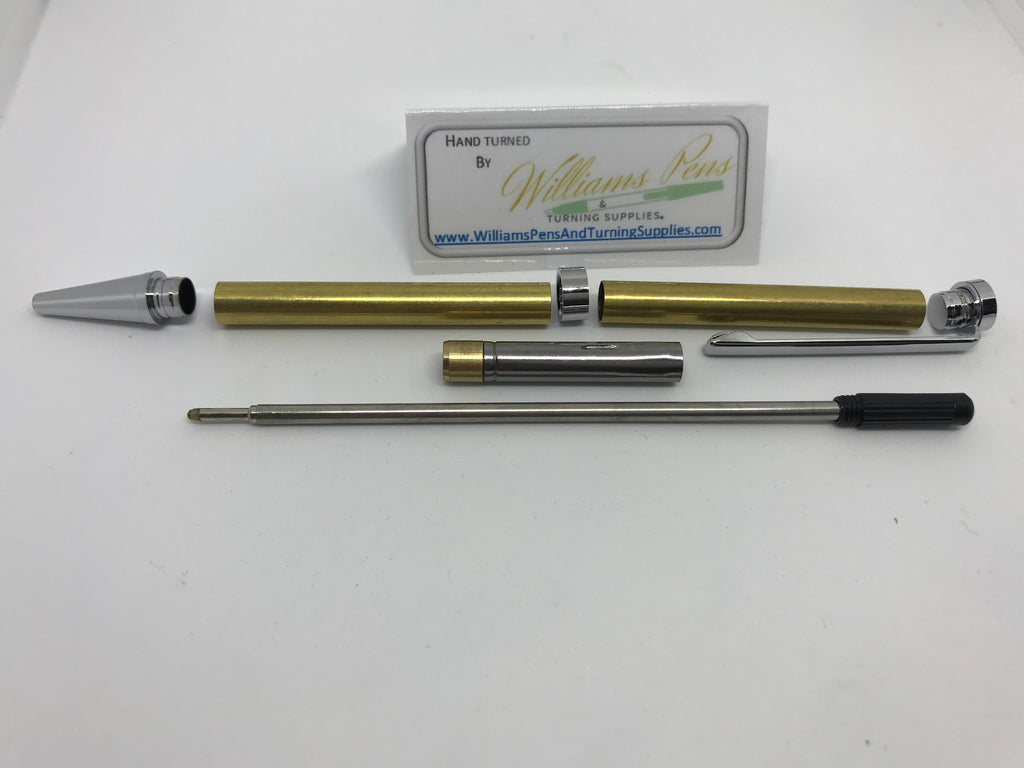 Slimline Pen Kit Chrome - Williams Pens & Turning Supplies.