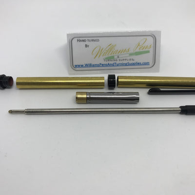 Slimline Pen Kit Black Chrome - Williams Pens & Turning Supplies.