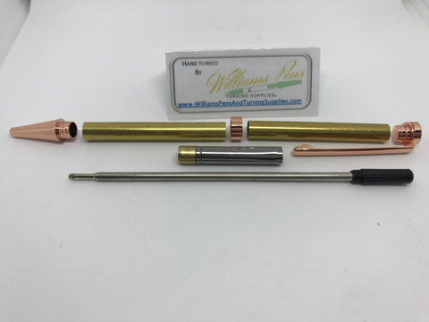 Slimline Pen Kit Copper - Williams Pens & Turning Supplies.