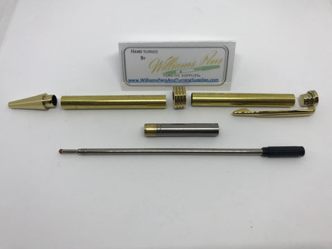 Streamline Pen Kit Gold - Williams Pens & Turning Supplies.