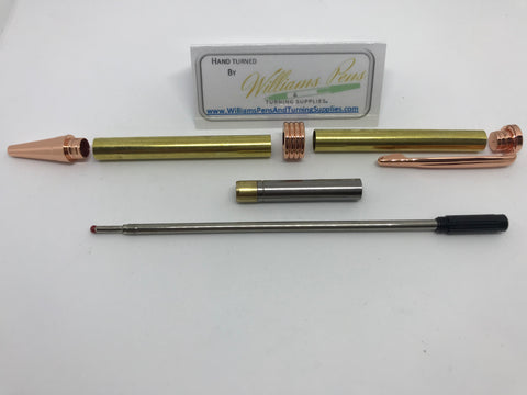 Streamline Pen Kit Copper - Williams Pens & Turning Supplies.