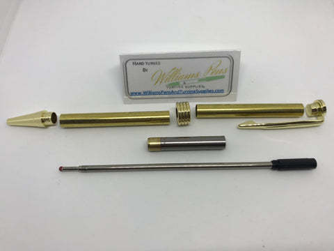 Streamline Pen Kit Titanium Gold - Williams Pens & Turning Supplies.