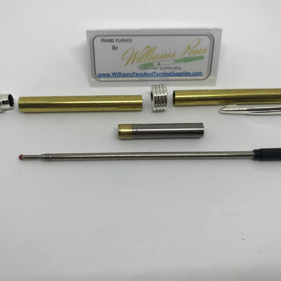 Streamline Pen Kit Silver - Williams Pens & Turning Supplies.