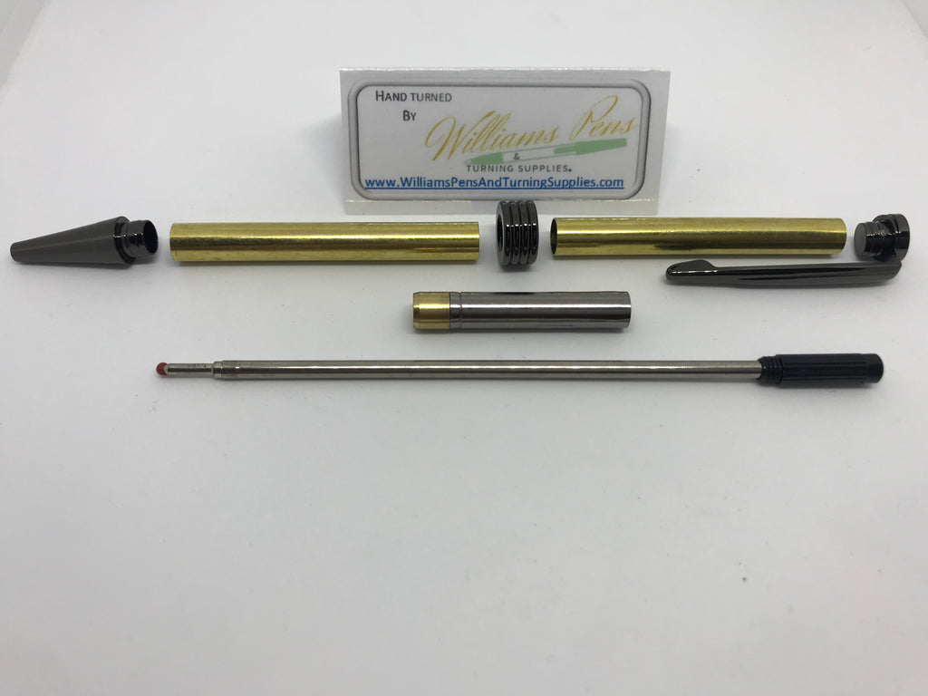 Streamline Pen Kit Black Titanium - Williams Pens & Turning Supplies.