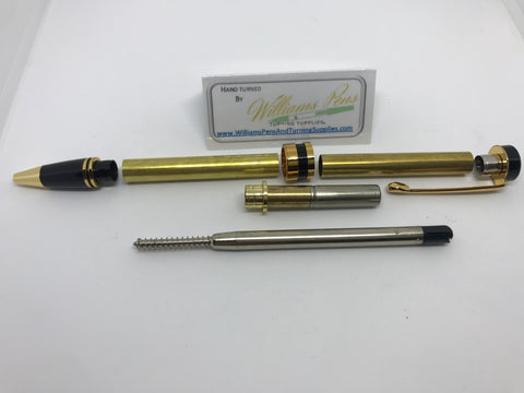 Classic Twist Pen Kit Gold - Williams Pens & Turning Supplies.