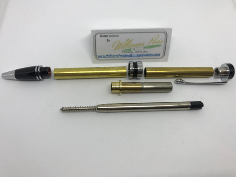 Classic Twist Pen Kit Chrome - Williams Pens & Turning Supplies.