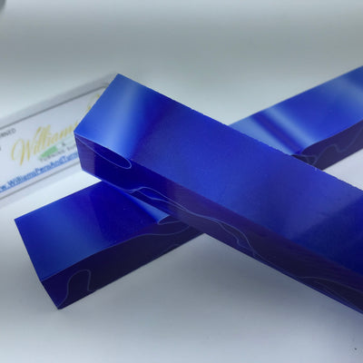 Acrylic Dark Blue with White Line Swirl Pen Blank - Williams Pens & Turning Supplies.