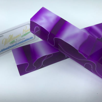Acrylic Dark Orchid with White Line Swirl Pen Blank - Williams Pens & Turning Supplies.