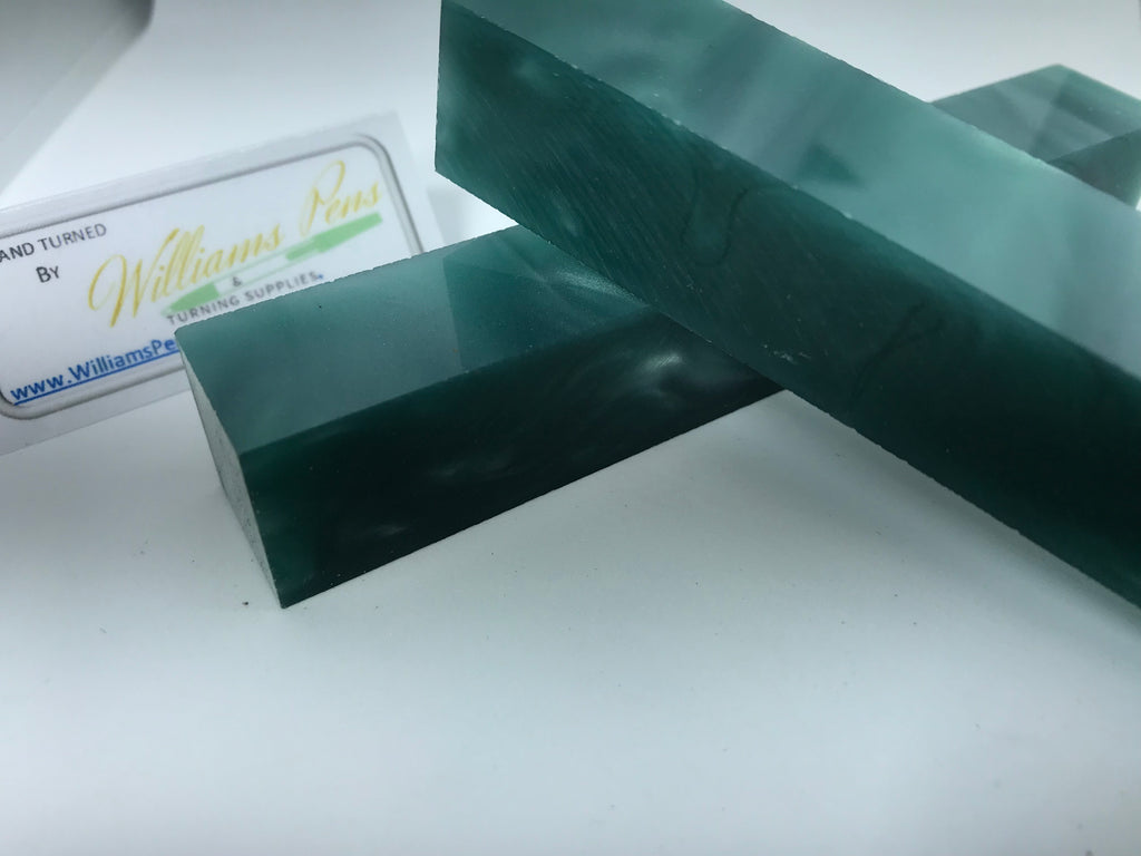 Acrylic Green with Transparence Line Pen Blank - Williams Pens & Turning Supplies.