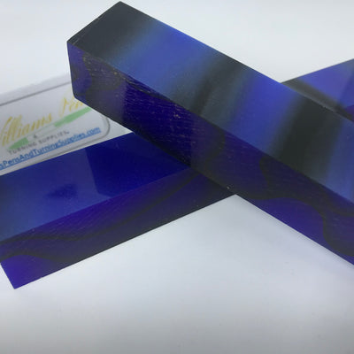 Acrylic Dark Blue with Black Line Pen Blank - Williams Pens & Turning Supplies.