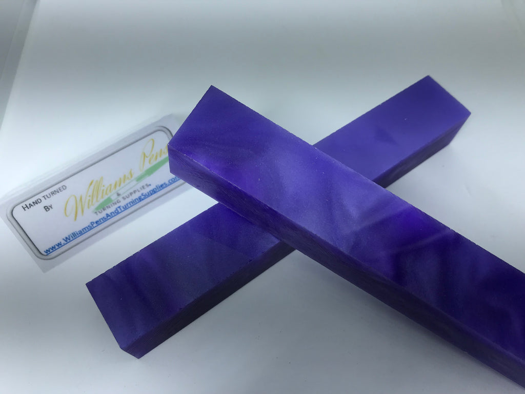 Acrylic Blue with Purple Line Swirl Pen Blank - Williams Pens & Turning Supplies.