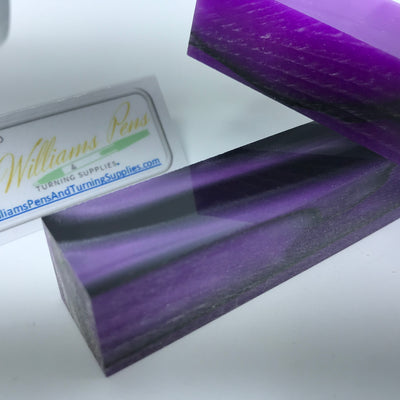Acrylic Light Purple with Black Line Swirl Pen Blank - Williams Pens & Turning Supplies.