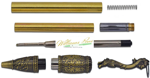 Antique bronze polish MT Kunlun Loong pen Dragon - Williams Pens & Turning Supplies.