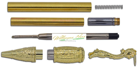 Gold MT Kunlun Loong pen kits Dragon - Williams Pens & Turning Supplies.