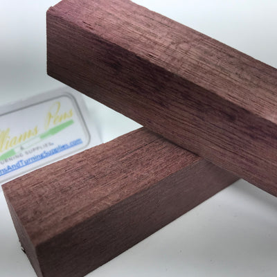 Peltogyne Wood Pen Blank (purple) - Williams Pens & Turning Supplies.