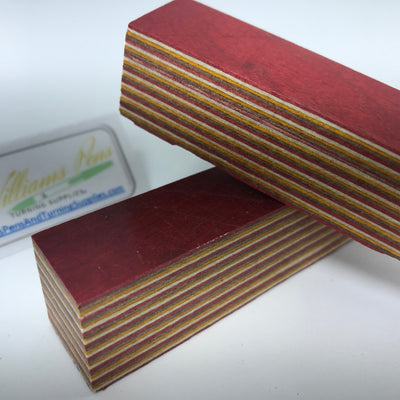 Color Wood Pen Blank (Red, White, Yellow, Coffee) - Williams Pens & Turning Supplies.