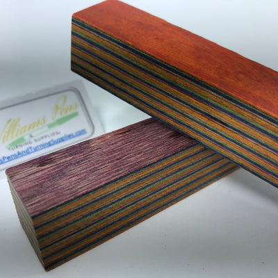 Color Wood Pen Blank (Orange, Green, Blue, Purple, Yellow) - Williams Pens & Turning Supplies.