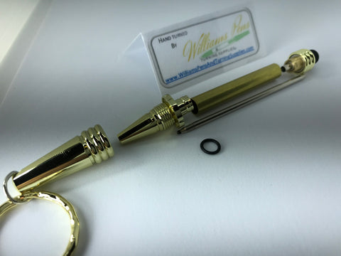 Gold Keychain Stylus Pen Kit - Williams Pens & Turning Supplies.