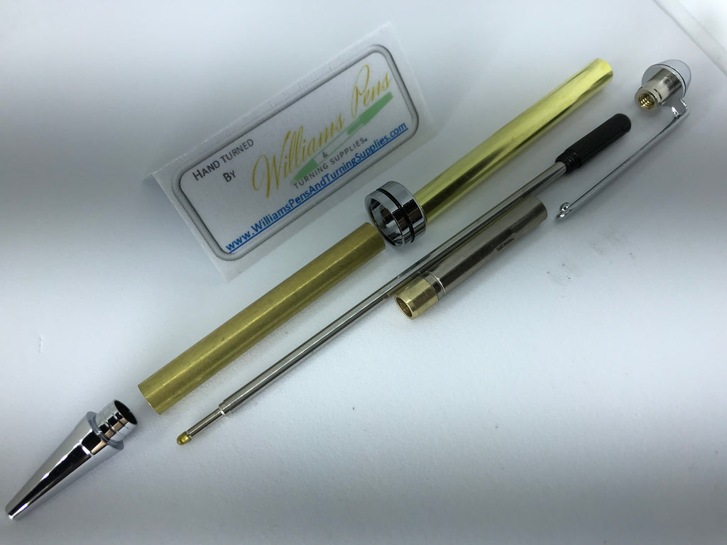 Chrome Euro Pen Kits - Williams Pens & Turning Supplies.