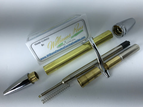 Chrome Polaris Twist Pen Kit - Williams Pens & Turning Supplies.