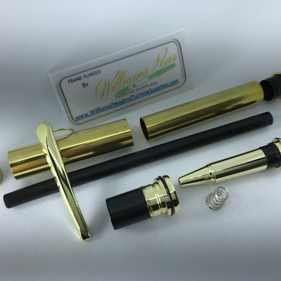 Gold Upgraded Jr. Gentleman Pen Kit - Williams Pens & Turning Supplies.