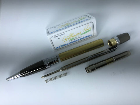 Chrome & Gun Metal Sierra Pen Kit - Williams Pens & Turning Supplies.
