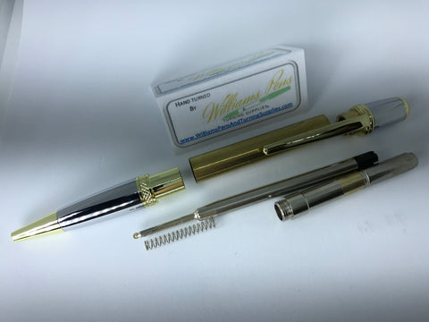 Gold & Chrome Sierra Pen Kit - Williams Pens & Turning Supplies.