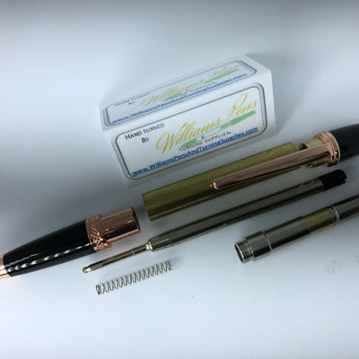 Copper & Black Chrome Sierra Pen Kit - Williams Pens & Turning Supplies.