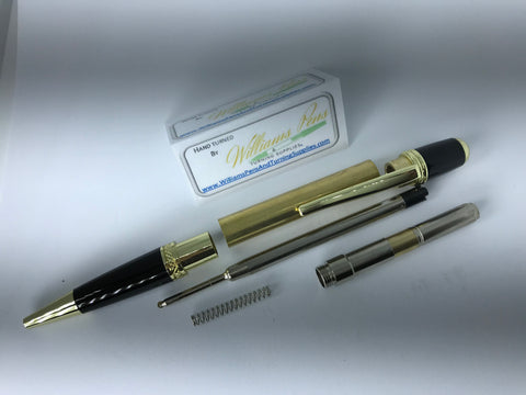 Gold & Black Chrome Sierra Pen Kit - Williams Pens & Turning Supplies.