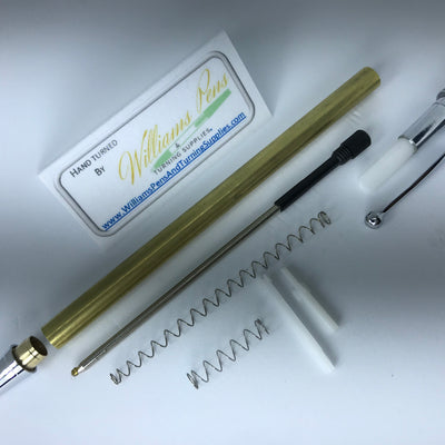 Chrome Miracle Click Pen Kits - Williams Pens & Turning Supplies.