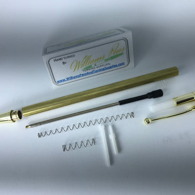 Gold Miracle Click Pen Kits - Williams Pens & Turning Supplies.