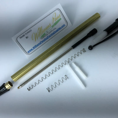 Black Chrome Miracle Click Pen Kit - Williams Pens & Turning Supplies.